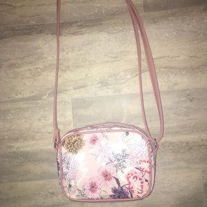 Flower crossbody purse